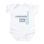 Snowboarder Winter Sport Infant Bodysuit