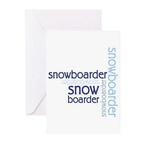 Snowboarder Winter Sport Greeting Cards (Pk of 10)