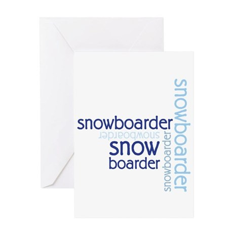 Snowboarder Winter Sport Greeting Card