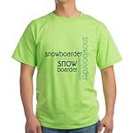 Snowboarder Winter Sport Green T-Shirt