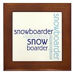 Snowboarder Winter Sport Framed Tile
