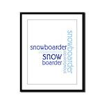 Snowboarder Winter Sport Framed Panel Print