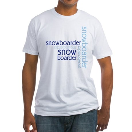 Snowboarder Winter Sport Fitted T-Shirt