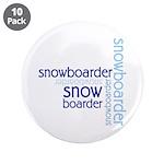"Snowboarder Winter Sport 3.5"" Button (10 pack)"