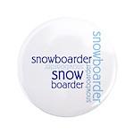 """Snowboarder Winter Sport 3.5"""" Button"""