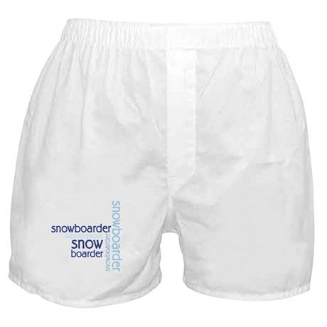 Snowboarder Winter Sport Boxer Shorts