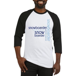 Snowboarder Winter Sport Baseball Jersey