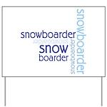 Snowboarder Winter Sport Yard Sign