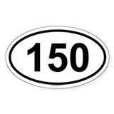 150 Oval Decal