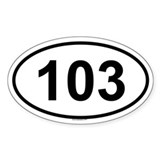 103 Oval Decal