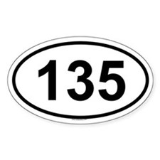 135 Oval Decal