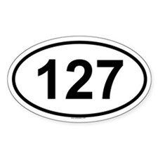 127 Oval Decal