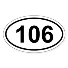 106 Oval Decal