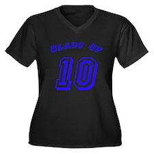 Class Of 10 Women's Plus Size V-Neck Dark T-Shirt