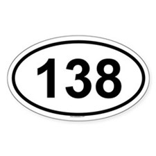 138 Oval Decal
