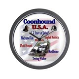 Coonhound USA Wall Clock