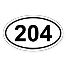 204 Oval Decal