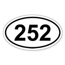 252 Oval Decal