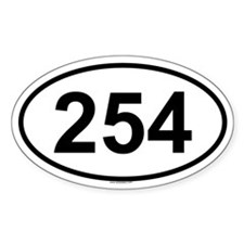 254 Oval Decal