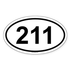 211 Oval Decal