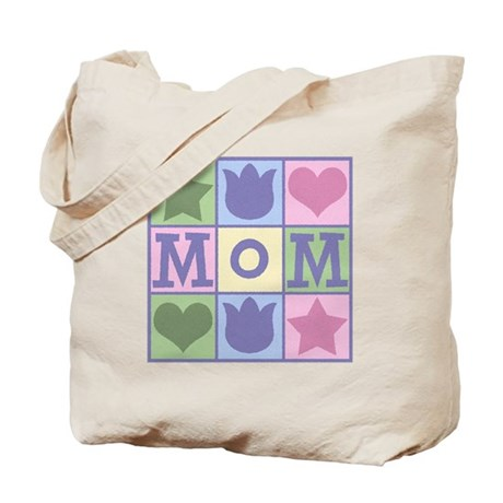 Fun Mom Quilt Squares Tote Bag