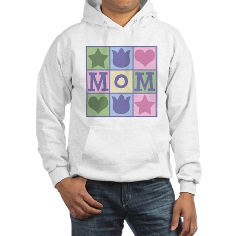 Fun Mom Quilt Squares Hooded Sweatshirt