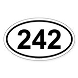 242 Oval Decal