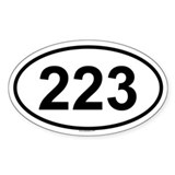 223 Oval Decal