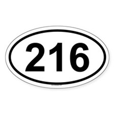 216 Oval Decal