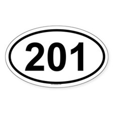 201 Oval Decal