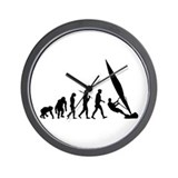 Windsurfers windsurfing Wall Clock