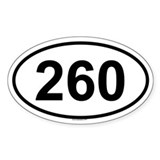 260 Oval Decal