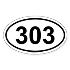 303 Oval Decal