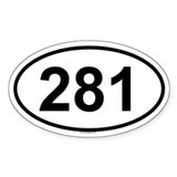 281 Oval Decal