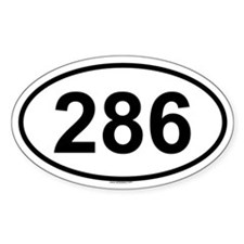 286 Oval Decal