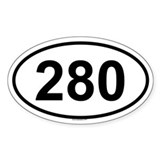 280 Oval Decal