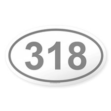 318 Oval Decal