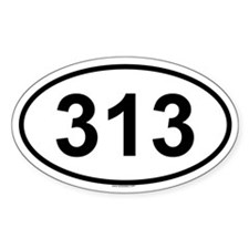 313 Oval Decal