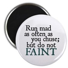 Jane Austen Run Mad Magnet