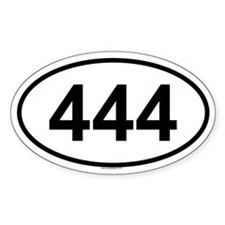 444 Oval Decal