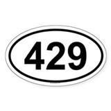 429 Oval Decal