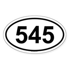 545 Oval Decal