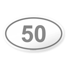 50 Oval Decal