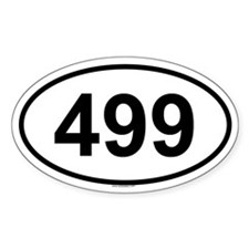499 Oval Decal