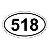 518 Oval Decal