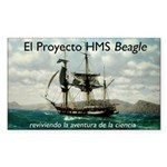 El Proyecto Beagle Rectangle Sticker