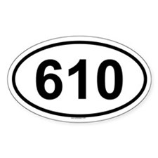 610 Oval Decal