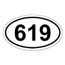 619 Oval Decal