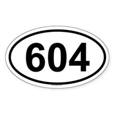 604 Oval Decal