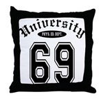 University Throw Pillow
